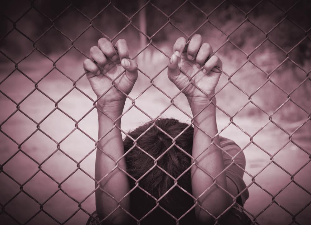 children in cage