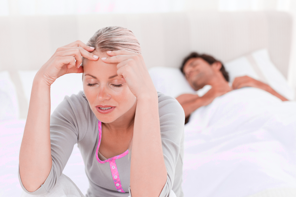 woman frustrated with man flu
